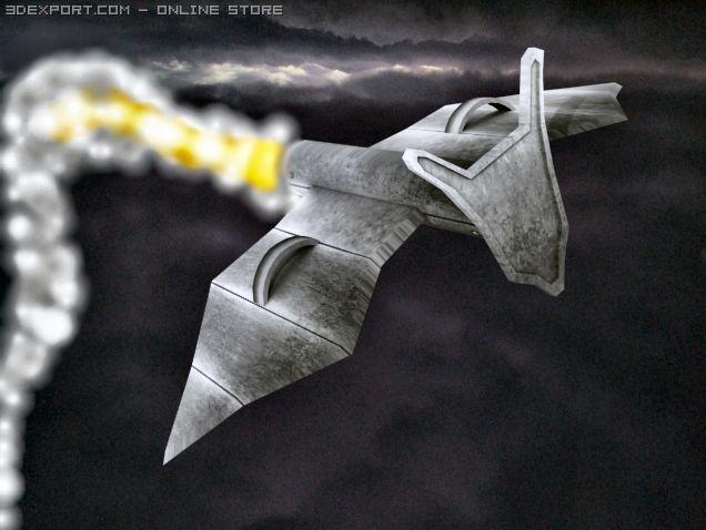 Green Goblin Glider 3D Model