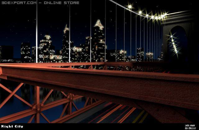 Night City 3D Model in Miscellaneous 3DExport
