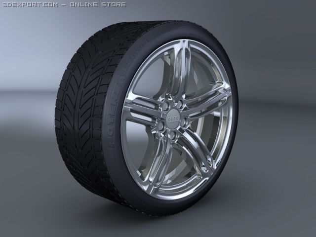 Audi RS6 Wheel and Tyre 3D Model