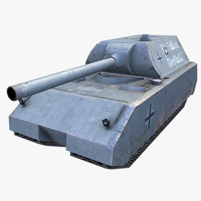 Download free WW2 Maus Tank 3D Model