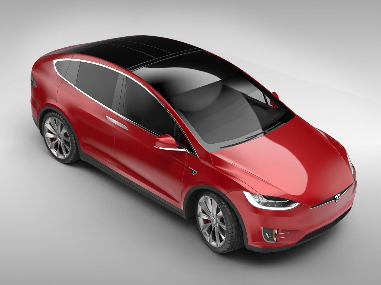 Tesla Model X 2017 3D Model in SUV 3DExport