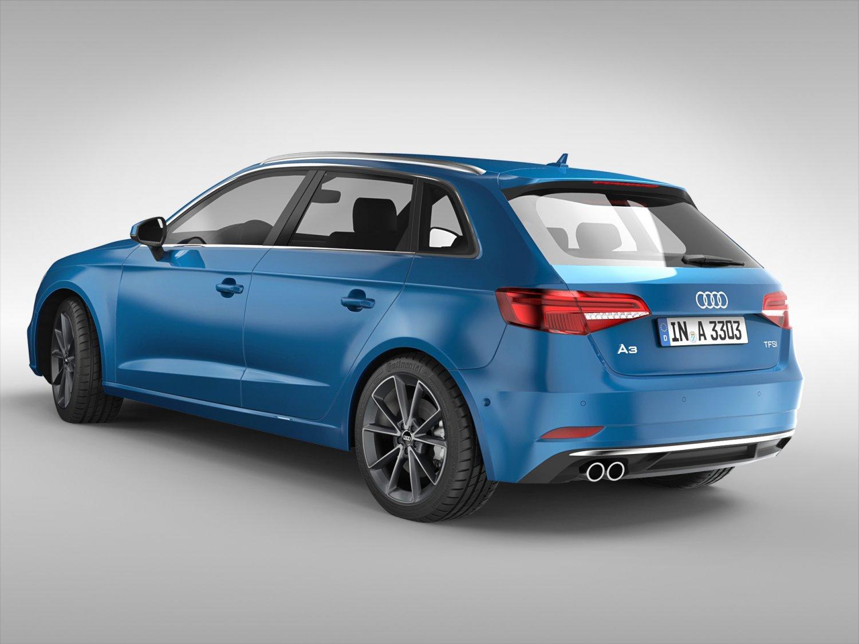 Audi A Sportback D Model In Compact Cars DExport - Audi a3 sportback