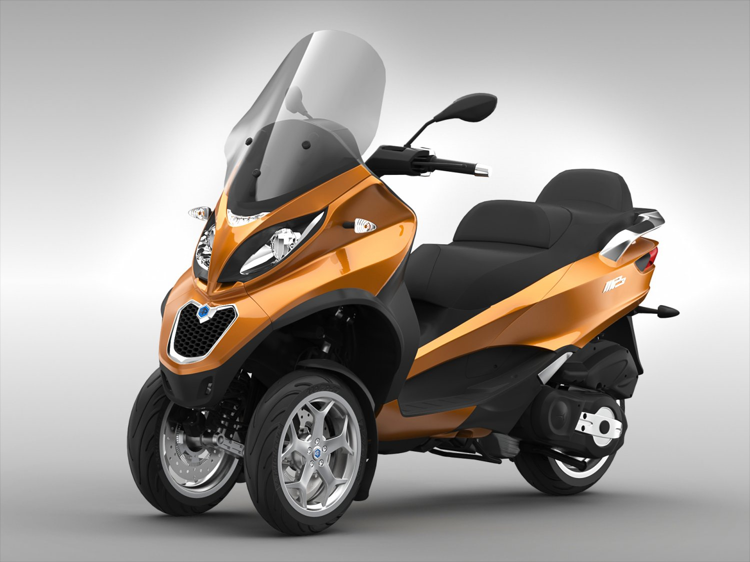 Piaggio MP3 Scooter 2016 3D Model in Motorcycle 3DExport