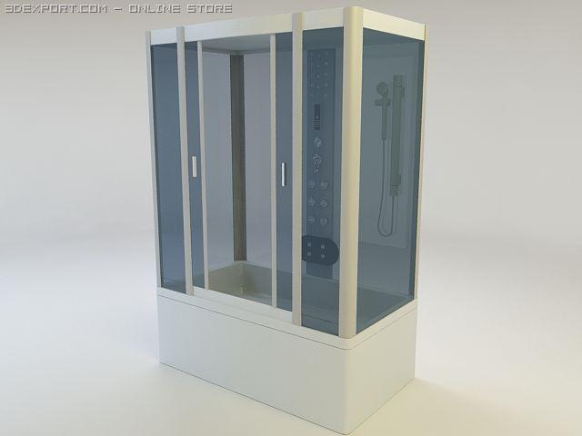 Shower cabin Golden Fish 3D Model