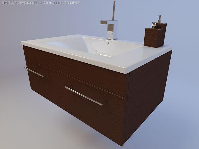 Modern sink 3D Model