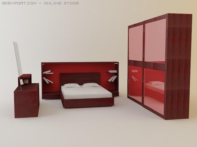 Italian bedroom suite Parentesi 3D Model