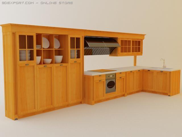 Kitchen set Palladio 3D Model
