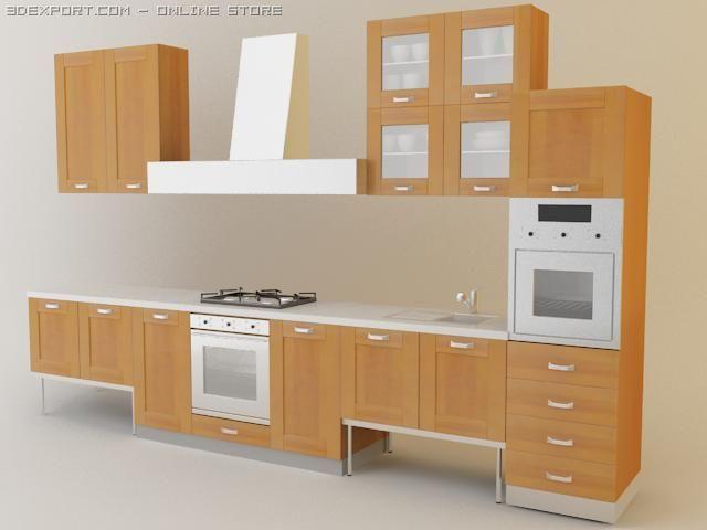 Kitchen set Quadria 3D Model