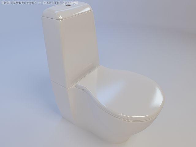 Toilet bowl Keramin Arctic 3D Model