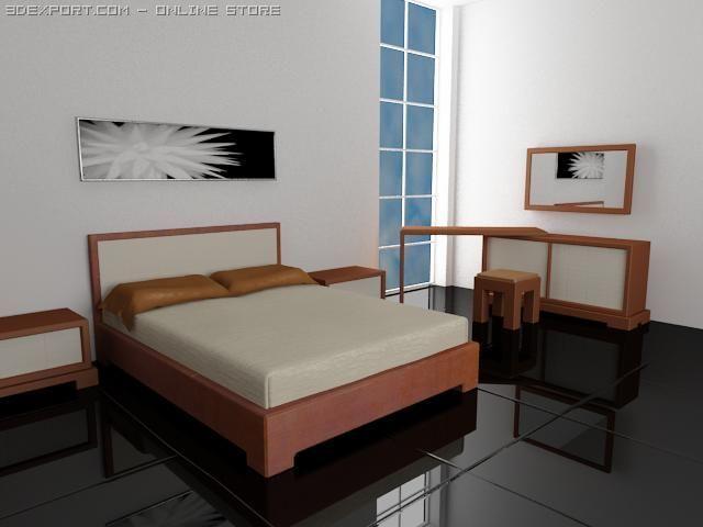 Fratelli Rossetto TAI Bedroom Suite 3D Model