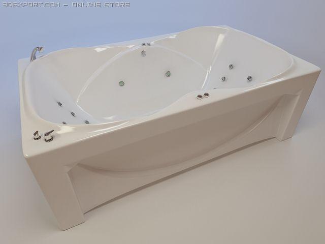 Bathtub Atlant 3D Model
