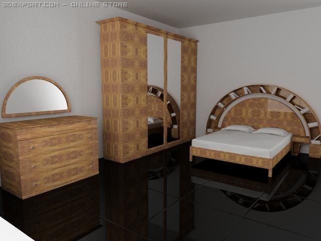 Kristal Serenissima bedroom suite 3D Model