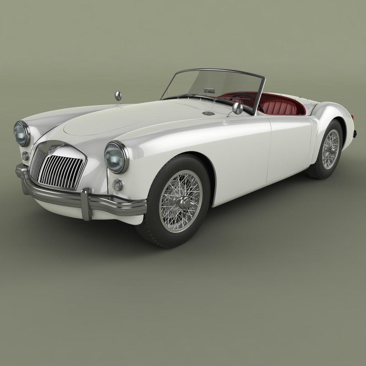 Mg Mga 3d Model In Classic Cars 3dexport