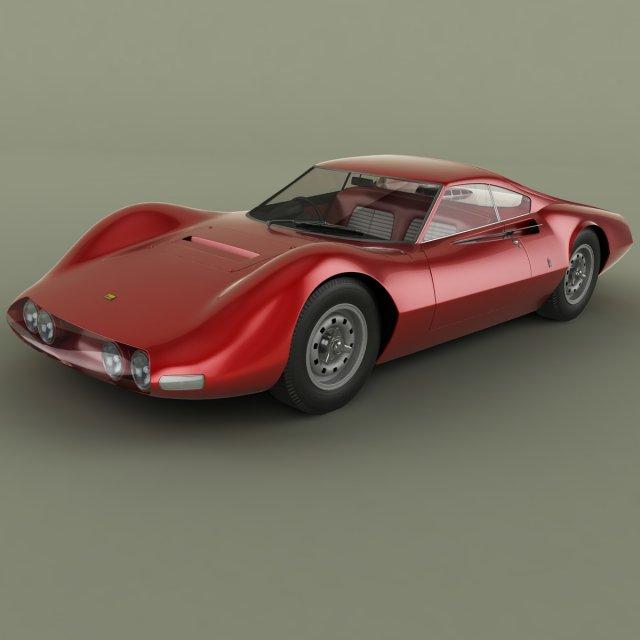 Ferrari 206 P Dino Pininfarina Berlinetta Speciale 3D Model