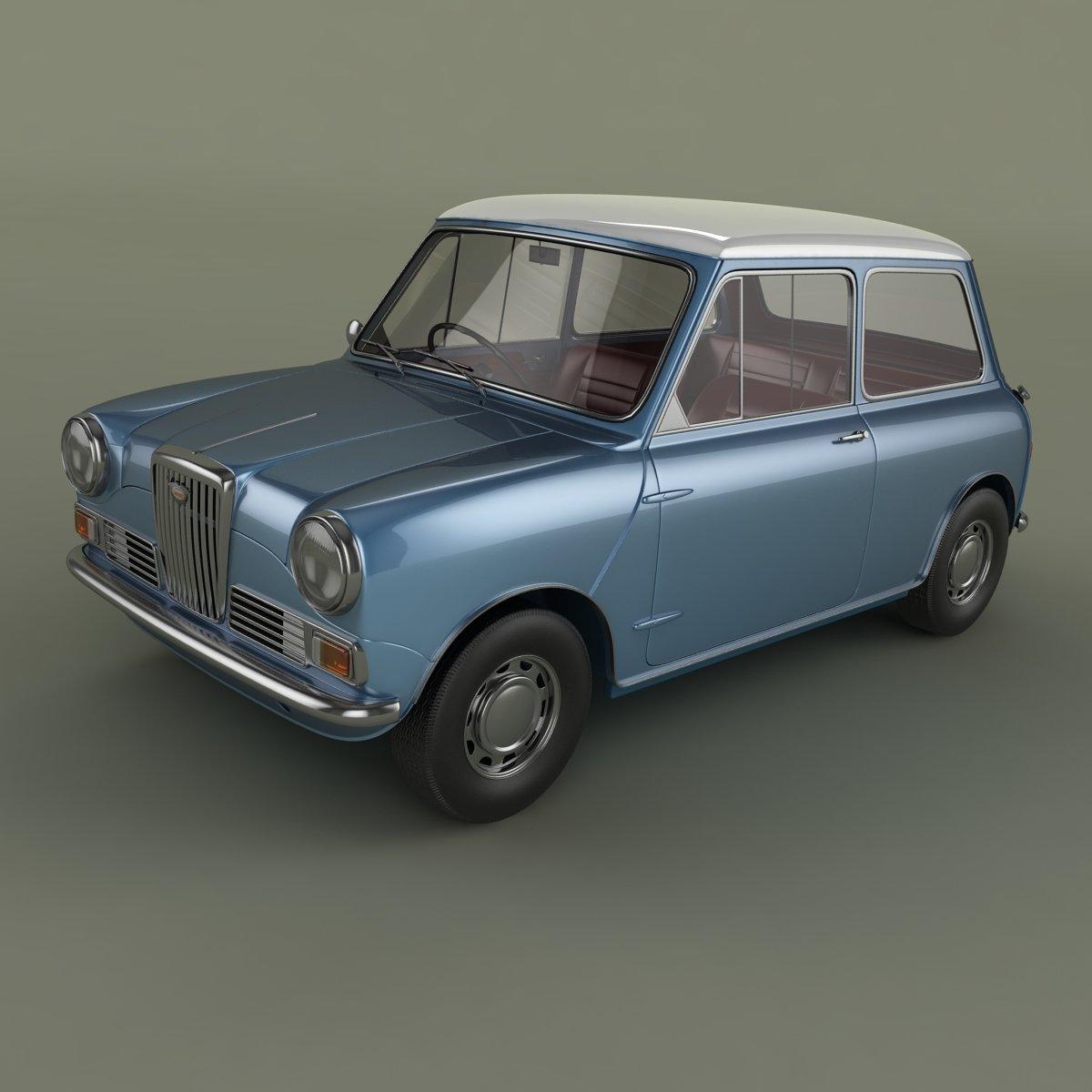 Wolseley 1000 3D Model in Classic Cars 3DExport