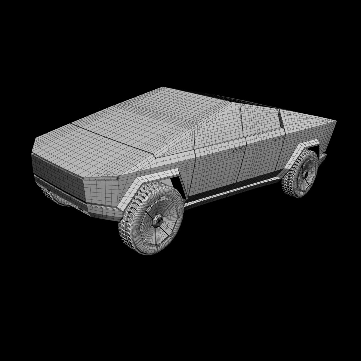 Tesla Cybertruck 3D Print model 3D Model in Royal Cars ...