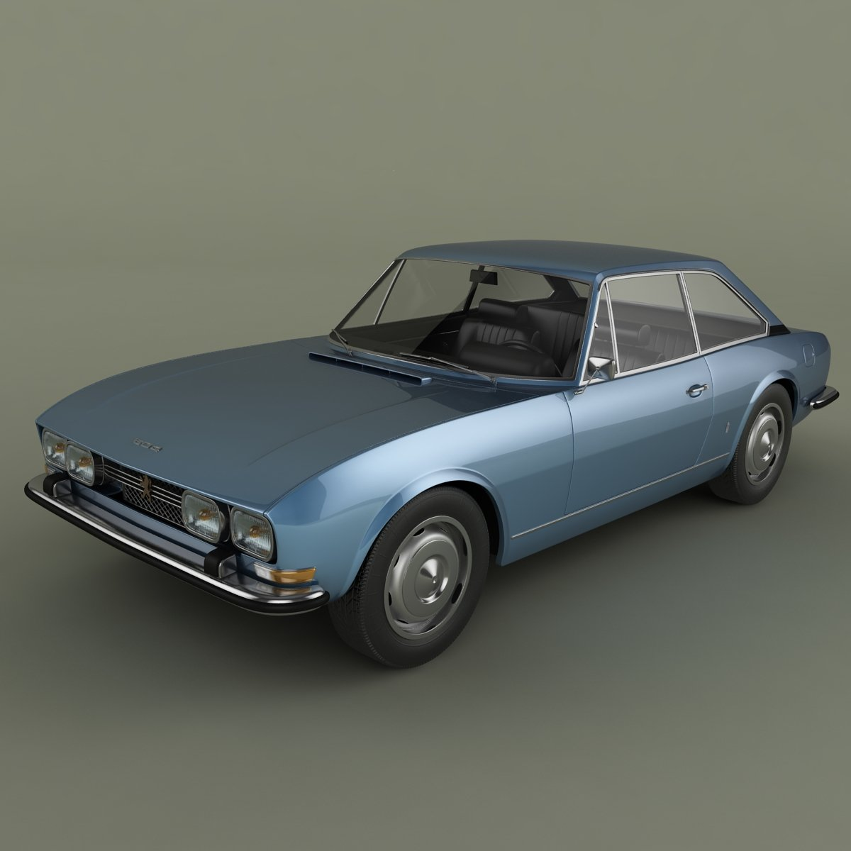peugeot 504 coupe modelo 3d in coches cl sicos 3dexport. Black Bedroom Furniture Sets. Home Design Ideas