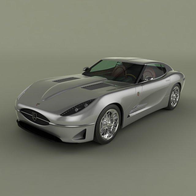 Lyonheart K Coupe Concept 3D Model