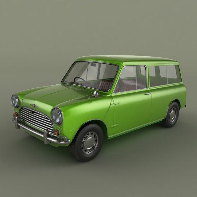Morris Mini Minor Traveller 3D Model