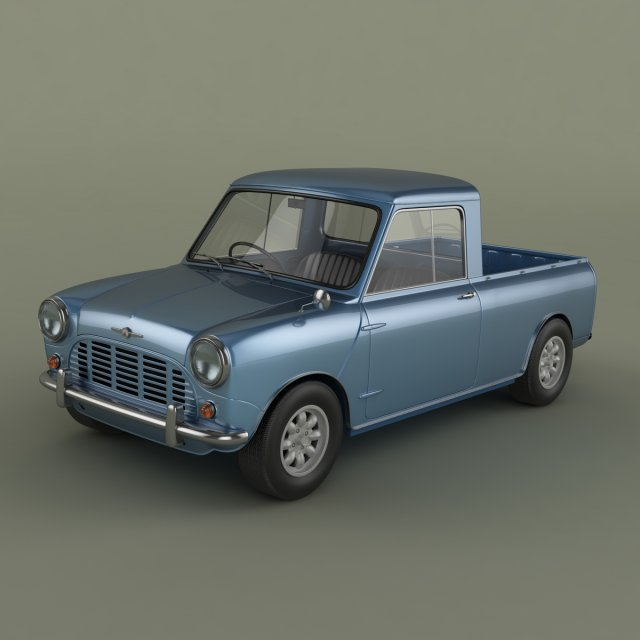 Morris Mini Pickup 3D Model