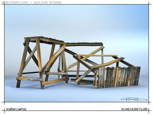 A simple wooden building construction