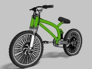 Mountain bike toon render
