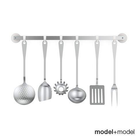 Alessi JM19 kitchen cutlery set 3D Model