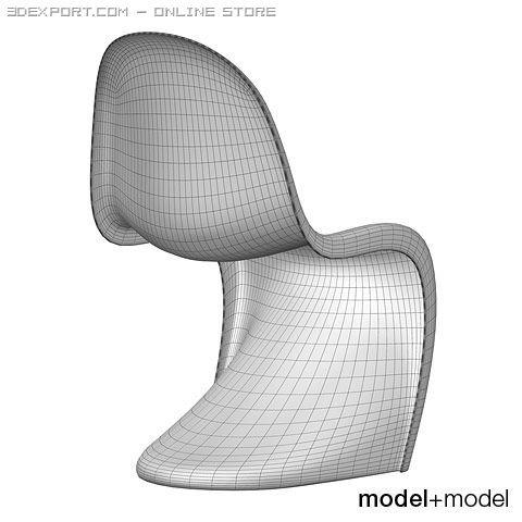 Vitra Panton Chair Free 3D Model