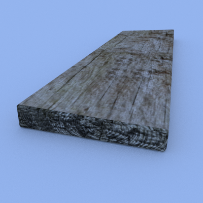 Wooden Plank Free 3D Model in Miscellaneous 3DExport