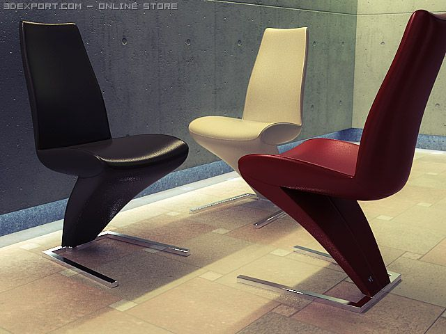 Rolf Benz 7800 chair 3D Model