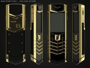 Vertu signature S gold