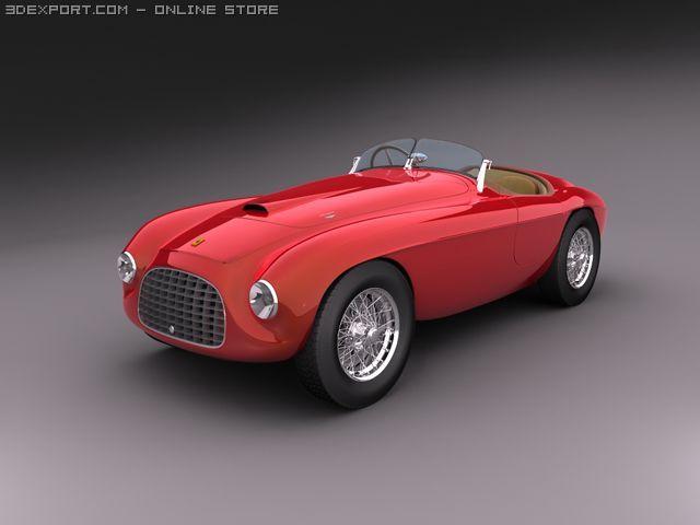 1948 Ferrari 166 Mm Barchetta 3d Modell In Sportwagen 3dexport