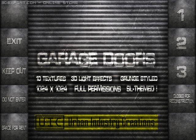 UIC Grunge Garage Door Textures Vol1 3D Model