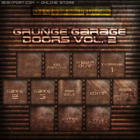 UIC Grunge Garage Door Textures Vol2 3D Model