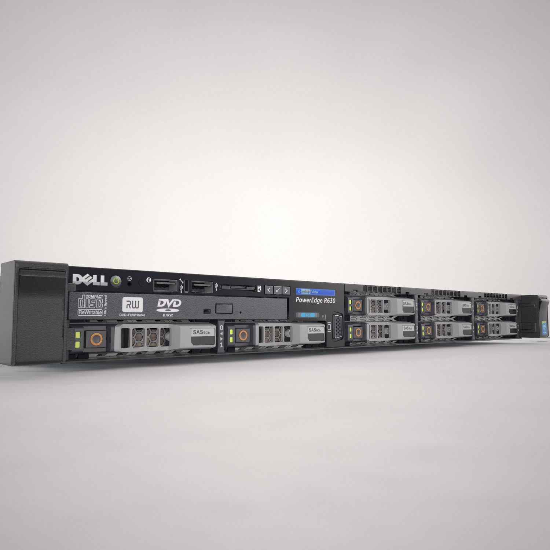 Dell PowerEdge R630 3D Model in Computer 3DExport