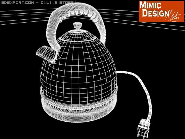 Kettle in chrome 3D Model in Cookware Tools 3DExport