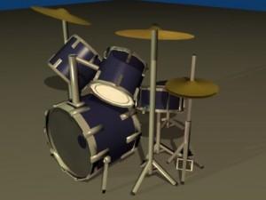 5 Piece Drum Kit