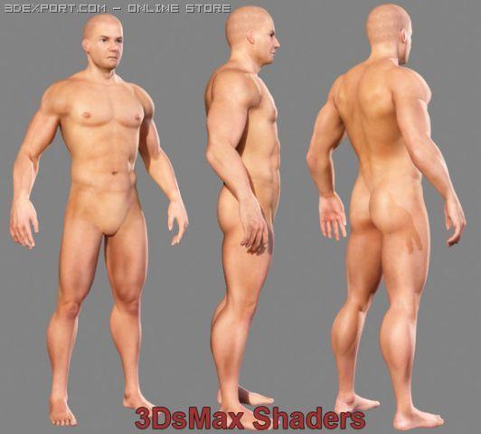Realistic Male Body 3D Model