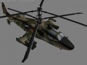 KA52 HocumB Russian Attack Helicopter Gunship
