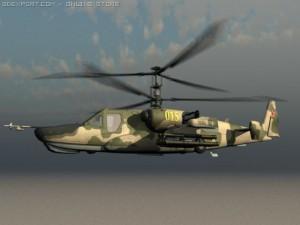 KA50 Hocum Russian Attack Helicopter Gunship Ga
