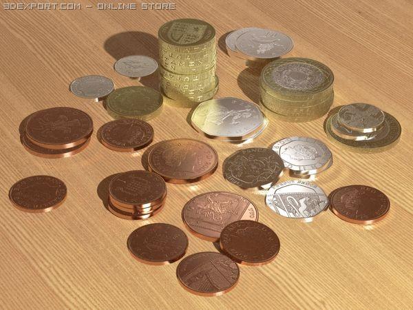 British coins 3D Model