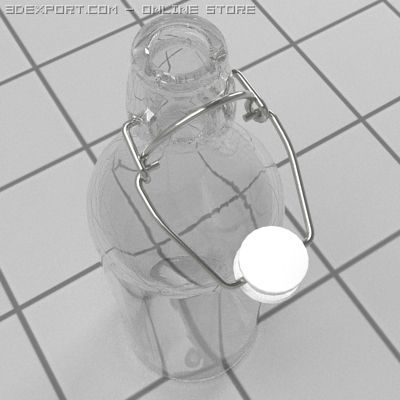 Bottle with stopper 3D Model