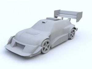 Low Poly Suzuki Escudo Pikes Peak Trial Car