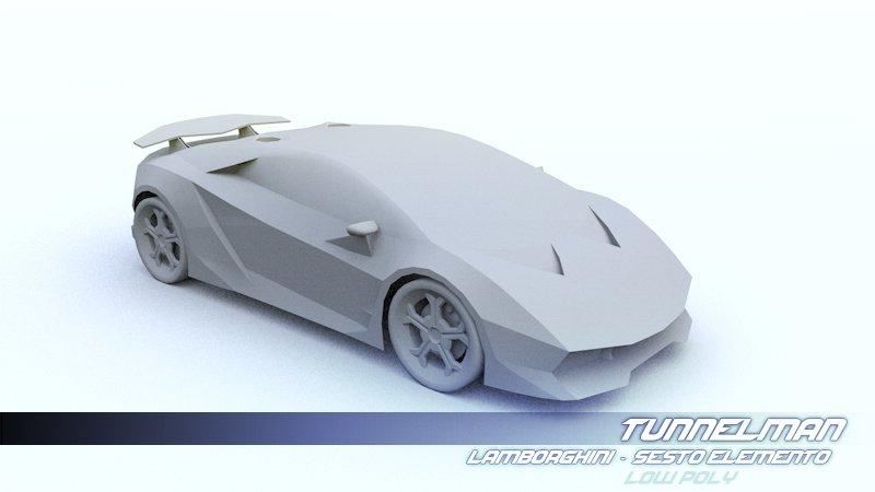 Low Poly Lamborghini Sesto Elemento 3d Model In Sport Cars 3dexport