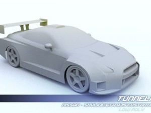 Low Poly Nissan Skyline GTR R35 Custom