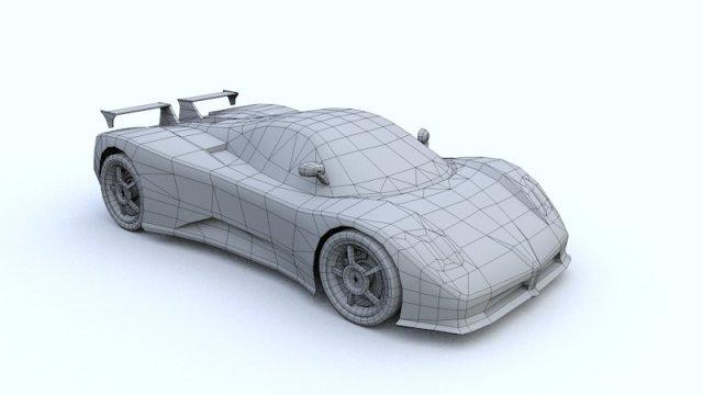 Lambo Zonda 3D Model