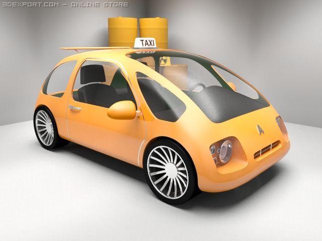 Futuristic Mini Taxi Alice 3d Model In Concept 3dexport