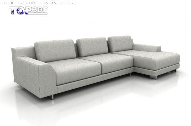 Calligaris Newport Corner Sofa 3D Model