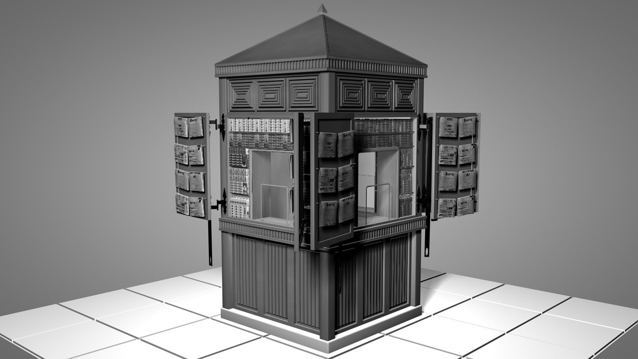 OLD GREEK KIOSK 3D Model in Buildings 3DExport