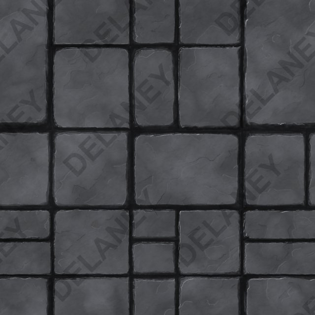 Hand Painted Textures Fully Tileable 3D Model